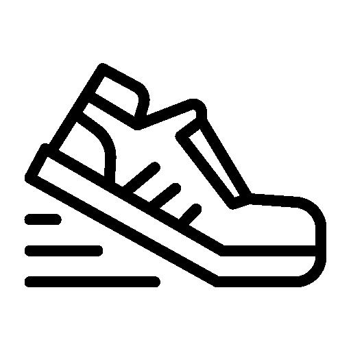 Schuh-Grafik-in-Bewegung