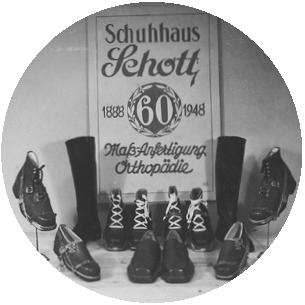 60 Jahre Tradition und Innovation Schuhhaus Schott Schild