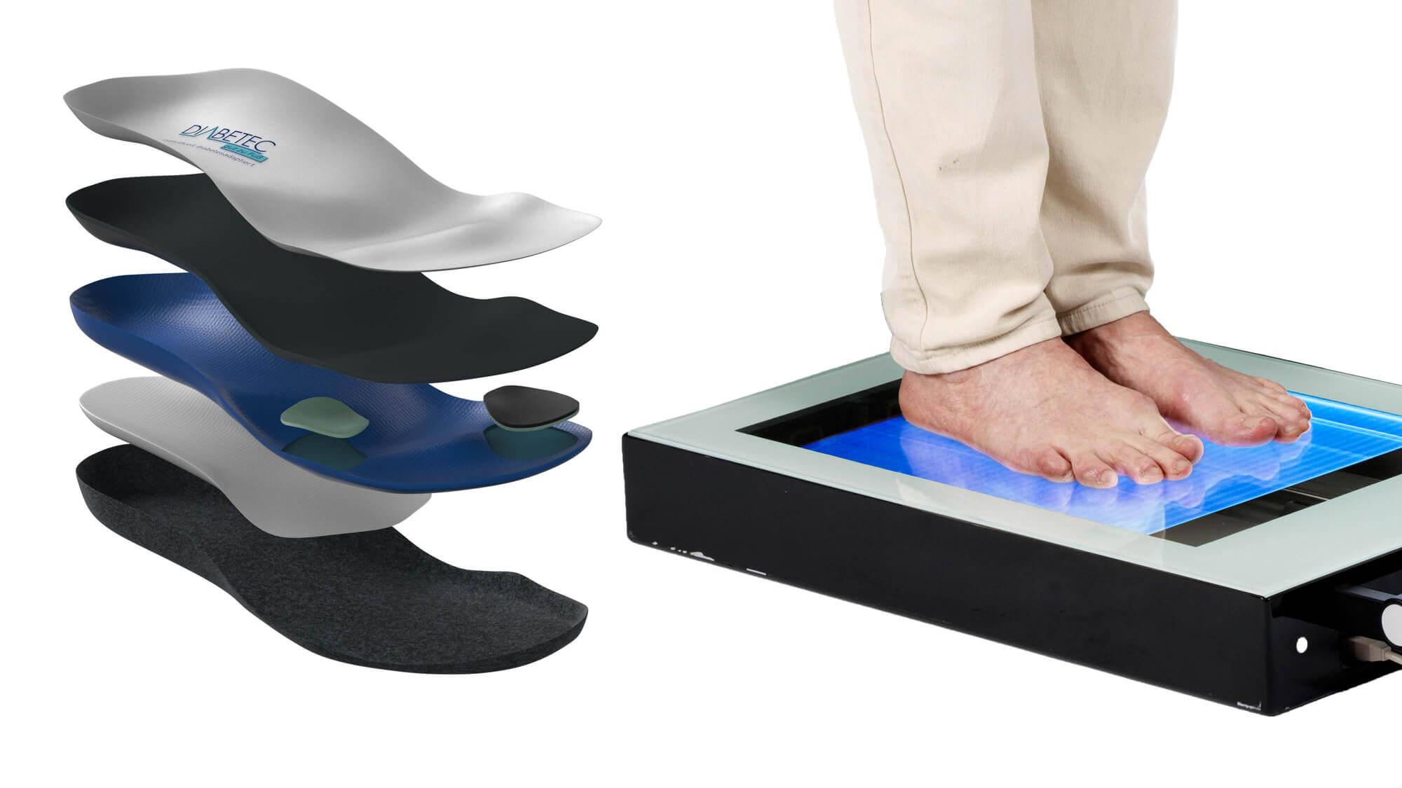 Fußscan bei einem Diabetiker