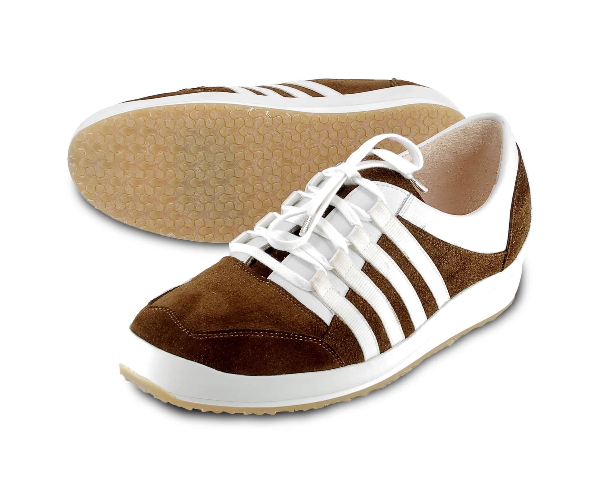 Maßschuh-Sneaker-flach-braun-weiß